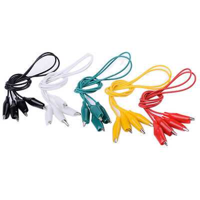 Double-ended Crocodile Clips Cable Alligator Clips Wire Testing Wires 10pcs50cm