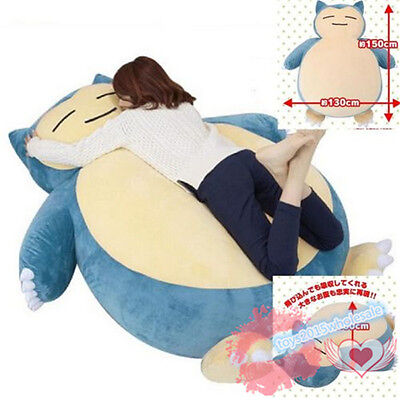 """59"""" Popular Pokemon Go Snorlax Plush Toys Doll Pillow Bed Only Cover With Zipper"""