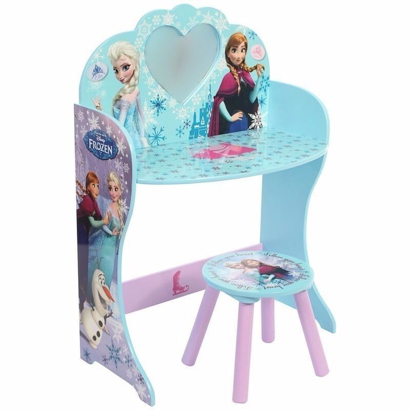 Brand New Disney Frozen Vanity Unit With Mirror And Stool