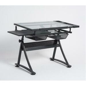 Adjustable Drafting Table Tattoo Stencil Glass Desk Tracing Drawing Work Station 053023