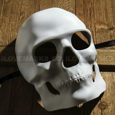 Day Of Dead Halloween Mask (White Sugar Skull Mask Halloween Masquerade Party Mardi Gras DIY Day of the)