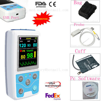 Spo2nibpvital Signs Monitor Patient Monitorpulse Rate24hrs Ambulatory Nibp