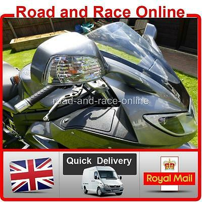 PAIR OF CLEAR INDICATOR LENS FOR TRIUMPH SPRINT ST 1050 PLUS AMBER BUL