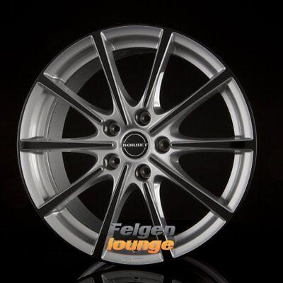 4 Alufelgen BORBET BL5 Silver Black Glossy 8x18 ET50 5x112 ML72,5 NEU