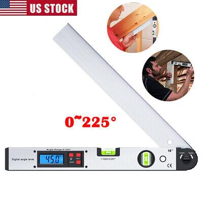 Digital Lcd Led Spirit Level Angle Finder Goniometer Protractor Gauge Meter 225