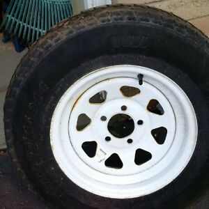 205 75 14 Trailer rims and tires