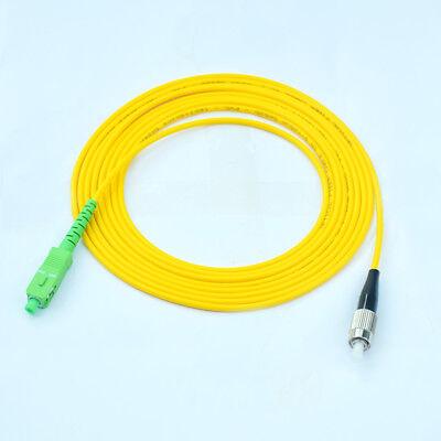 2M FC-SC/APC Fiber Optic Cable Patch Cord Jumper  Single mode (Apc Fiber Optic)