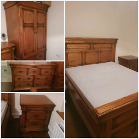Solid Wood Handcrafted Bedroom Furniture Set