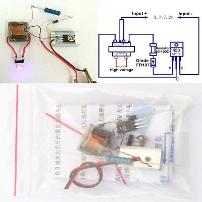 Dc High Voltage Generator Inverter Electric Ignitor Diy Kit For 18650 Battery