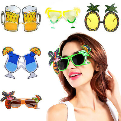 FLAMINGO COCKTAIL PINEAPPLE HAWAIIAN NOVELTY SUNGLASSES FANCY DRESS BEACH GLASSE ()