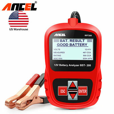 12V Automotive Car Battery Tester Digital Vehicle Analyzer 1100CCA ANCEL BST200