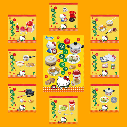 Rare 2014 Re-Ment Hello Kitty Nostalgic Snack Old Sweets (Each Sell Separately)