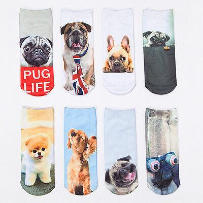 3D gedruckt Tier Frauen Casual Socken niedlichen Hund Unisex Low Cut Söckchen - Niedlichen Tier Kostüm Frauen