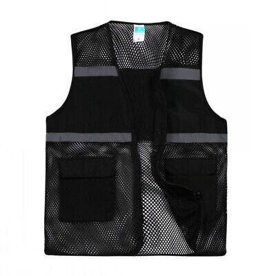 Us Gogo Mesh Safety Vest 2 Pockets Class 2 Reflective Surveyor High Visibility