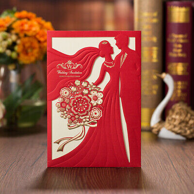 Champagne and Red Bride and the bridegroom Wedding Invitation Kit