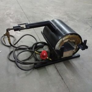 Single burner gas forge