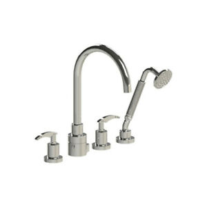Rubinet T5HLALCHCH LaSalle Four Piece Roman Tub Filler With Hand