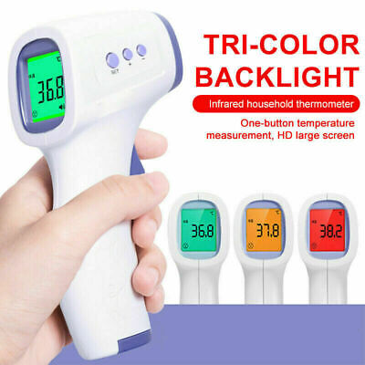 Medical Digital Infrared Forehead Fever Gun Thermometer Non-contact Adult G