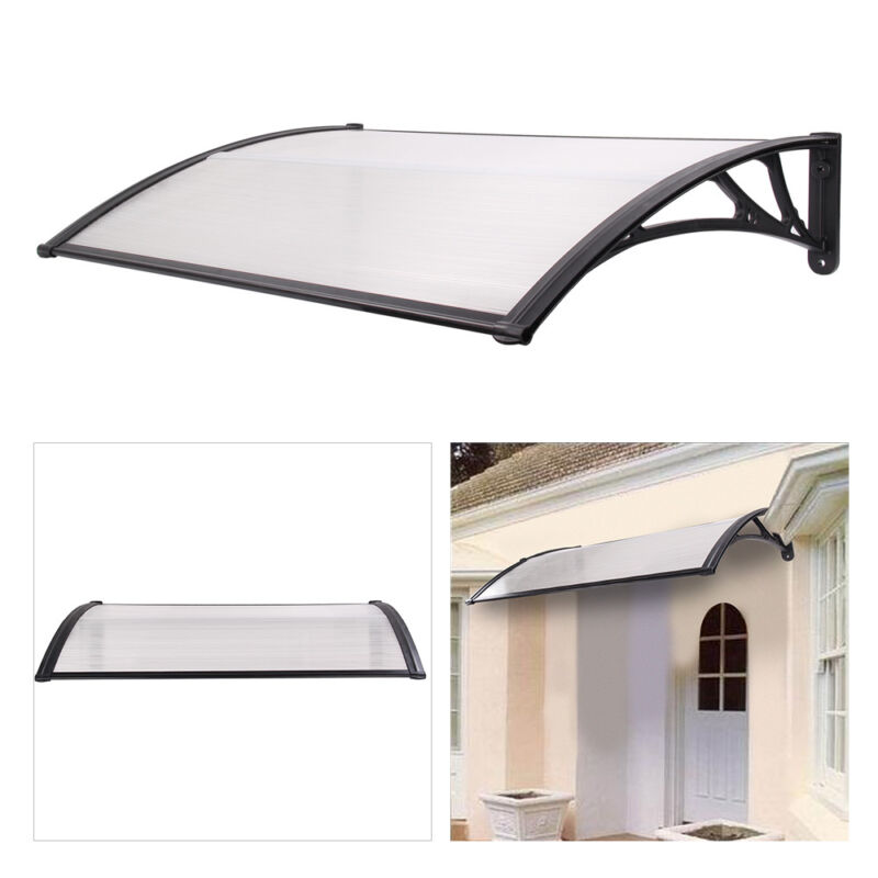 quality design 8611c 8390d Details about 3SIZES DOOR CANOPY AWNING SHELTER ROOF FRONT BACK PORCH  OUTDOOR SHADE PATIO ROOF