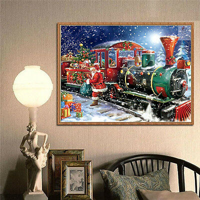 5D Halloween Christmas Train Diamond Painting Embroidery DIY Home Decoration - Decoration D Halloween