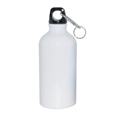 New 1pc 600ml White Aluminium Water Bottle 3d Sublimation Heat Press Transfer
