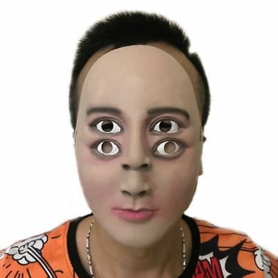 Funny Mask Latex Halloween Terror Ghosting Double Eyes Party Cosplay Costumes](Double Halloween Costumes Funny)