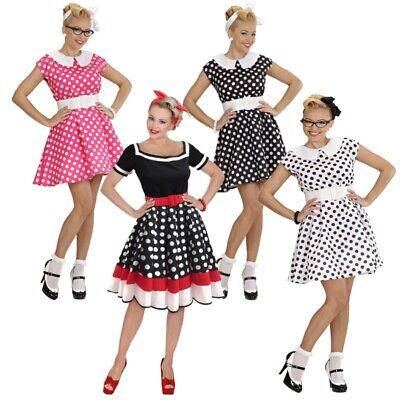 ROCKABILLY KLEID mit PETTICOAT 50er Jahre Rock'n Roll Damen Kostüm Partykleid
