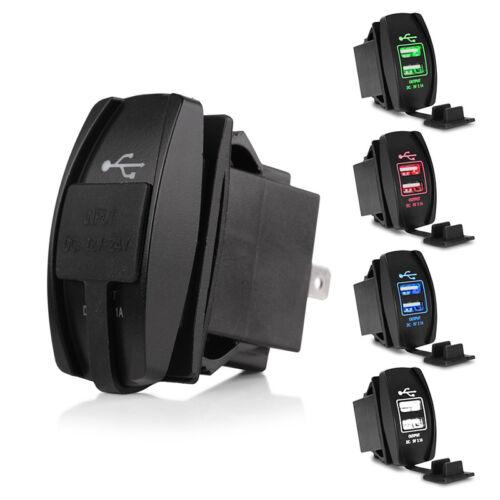 3.1A Dual USB Charger Socket adattatore per presa 24V per 12V Auto Moto BG0