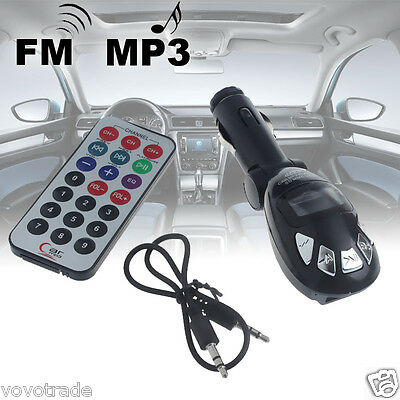 ON SALE ! LCD Wireless FM Transmitter Car Kit MP3 Player Support USB SD MMC Slot