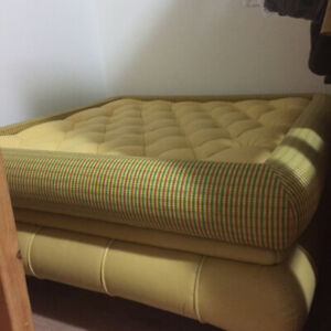 MOVING SALE! AUTHENTIC LEATHER GORGEOUS OTTOMAN LIKE NEW!!!