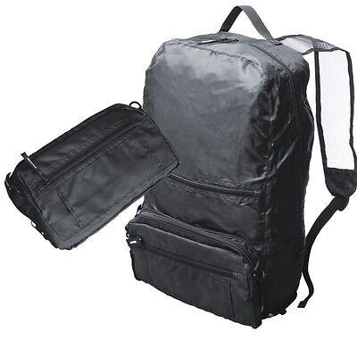 Faltrucksack Rucksack Zusammenfaltbar Reiserucksack Nylon Schwarz > Neu <