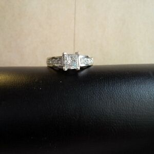 Large 1.25 ct princess cut diamond ring - $3900