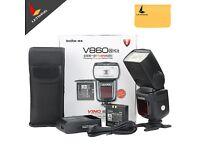 3xGodox Ving V860N V860 Speedlite New Li-ion Battery Flash Fast E-TTL HSS + radio trigger