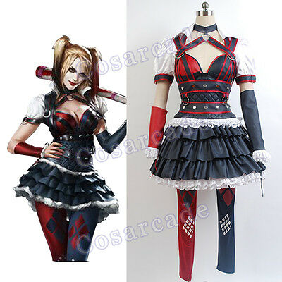 Batman Dark Knight Harley Quinn Party Dress Cosplay Costume Arkham Asylum - Harley Quinn Arkham Asylum Cosplay