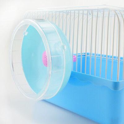 Hamster Mouse Rat Exercise Plastic Silent Running Spinner Wheel Pet TrainingLK3X