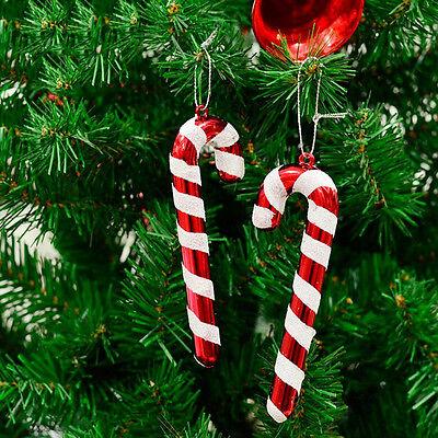 12XColore canna di Natale casuale decorazioni per alberi di Natale con natalizW