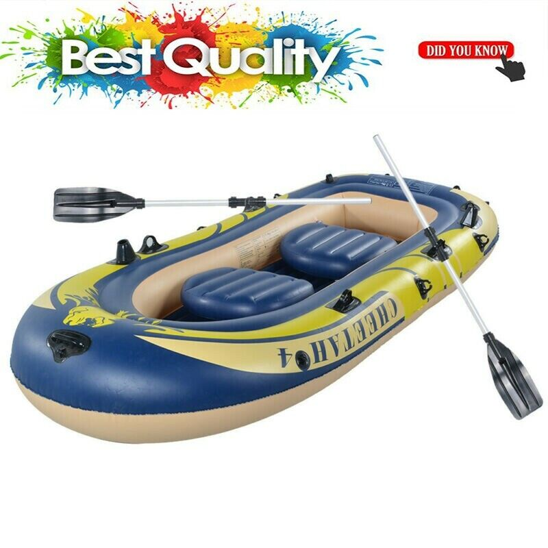 Inflatable Fishing Boat Raft PVC Canoe Dinghy Tender 3 Perso
