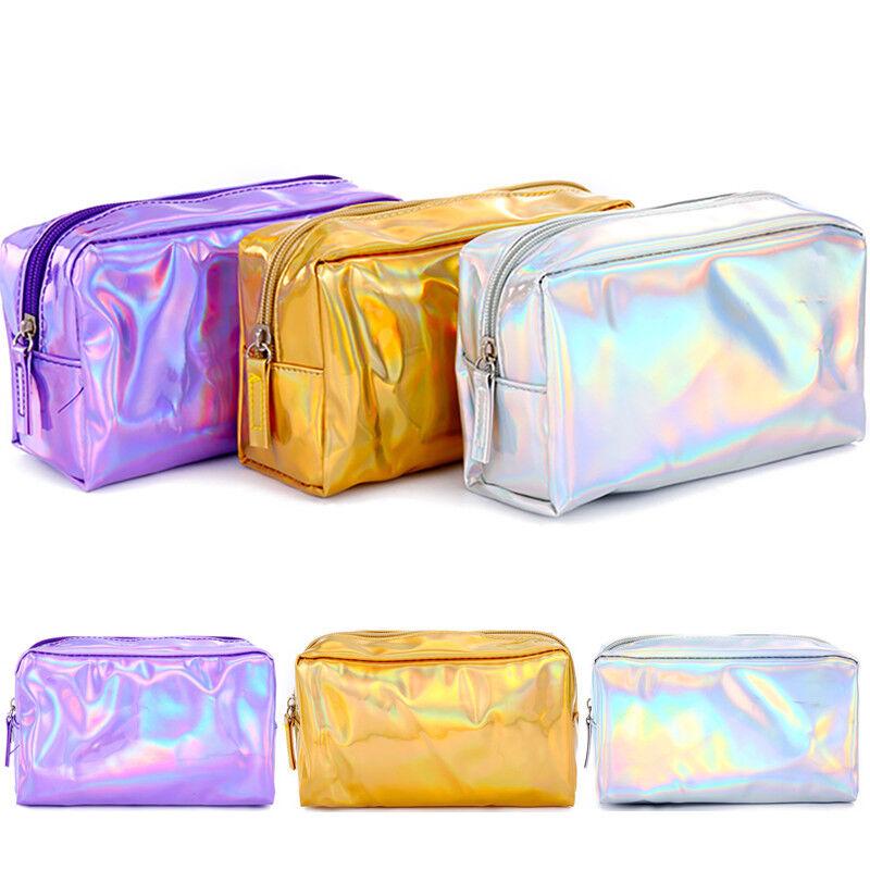 Women Beauty Cosmetic Bag Travel Make Up Pouch Zipper Toilet