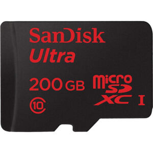Used SanDisk Ultra 200GB Micro SD (SDSDQUAN-200G-G4A)