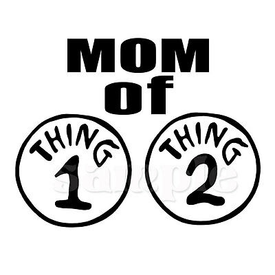 MOM OF THING 1 AND THING  2 IRON ON TRANSFER - Thing 1 And Thing 2 Iron On