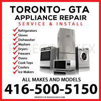 APPLIANCE REPAIR EXPERT-- ALL BRANDS ~ ALL MODELS ~ BEST IN GTA