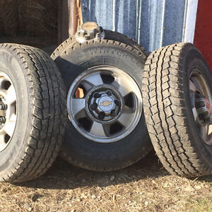 Four, studded winter tires