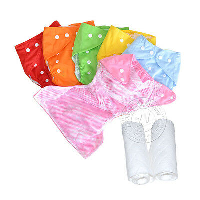 New Adjustable Baby Diapers Reusable Nappy Inserts Covers Summer Breathable