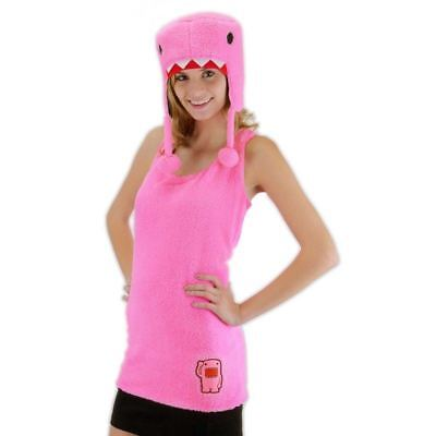 DOMO KUN PINK SHIRT HAT COSPLAY HALLOWEEN XMAS PAJAMA ADULT DRESS UP COSTUME NEW - Halloween Domo Costume