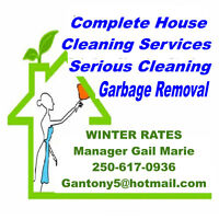 Winter Rates for cleaning up your home Garbage Removal and more