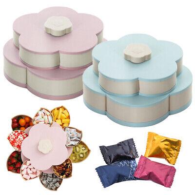 Food Storage Organizer (Plastic Snack Box Bloom Rotating Flower Food Candy Storage Organizer Cases HG9)