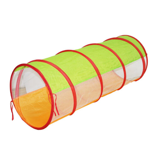 Portable Kids Pop Up Tunnel Play Tent for Toddler Crawling F