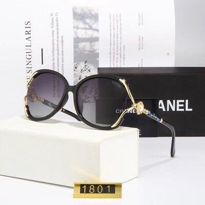 Sunglasses Oversized Polarized#⁵Chanel#⁵ Black Gold Grey Iridium2018