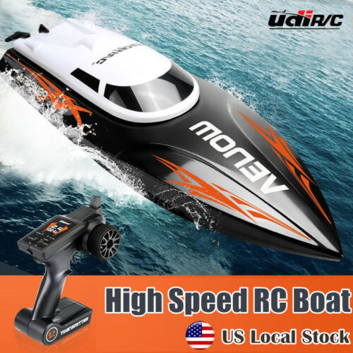 Udirc Venom 2.4GHz RC Electric Boat High Speed Racing Remote Control Boat Black