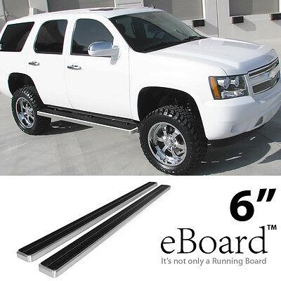 "eBoard Running Boards Combo 6"" For 00-18 Chevy Tahoe/Yukon 4-Door 01-18 Escalade"